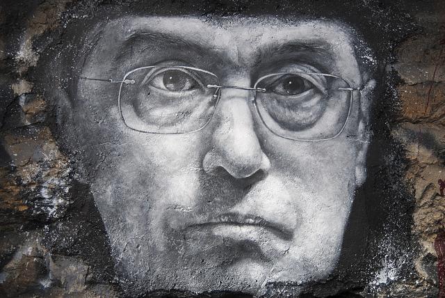 Portrait peint de Claude Guéant. Photo Thierry Ehrmann;