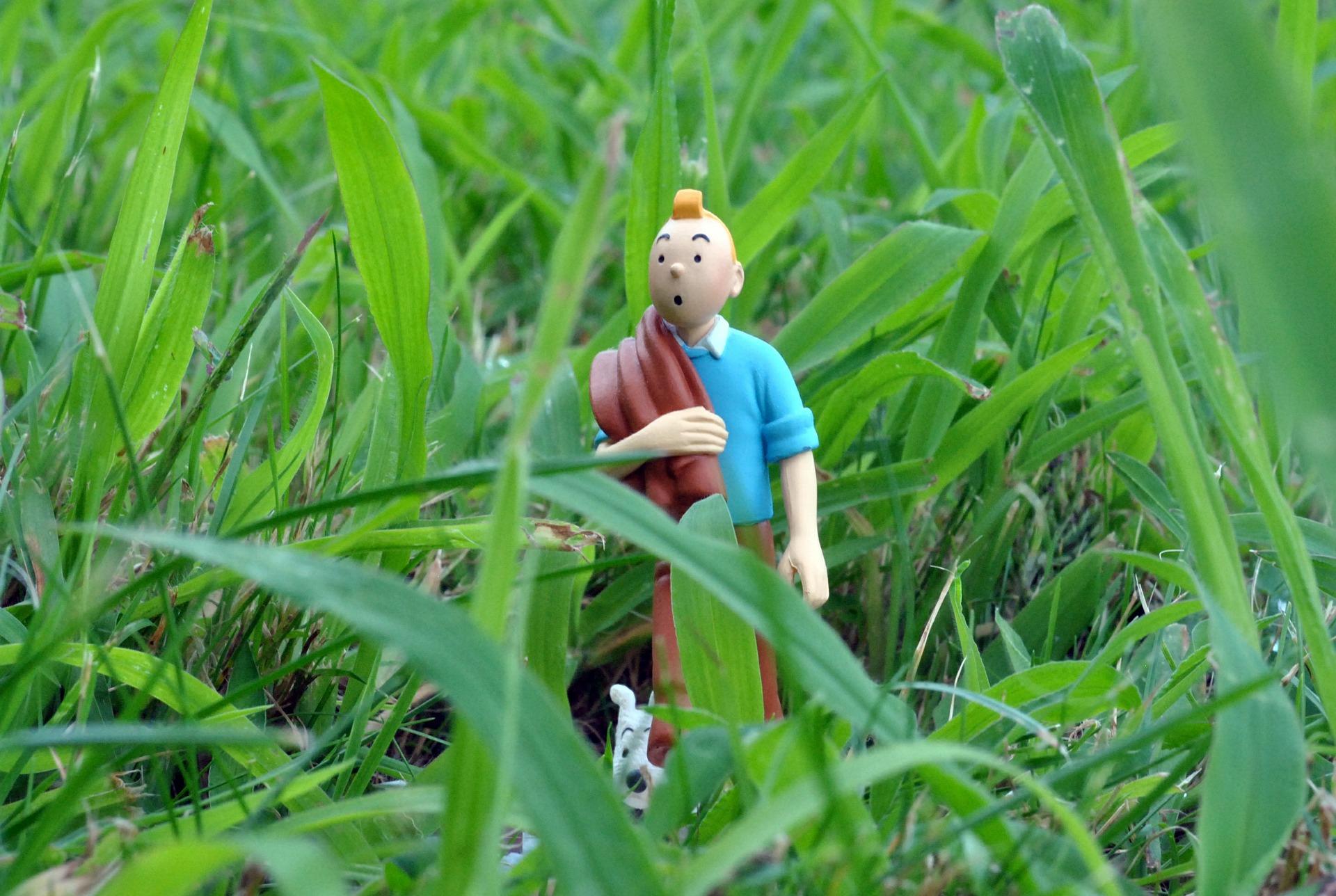 Une figurine du reporter belge ayant servi à l'ébauche de « Tintin chez les fourmis », un projet finalement abandonné.